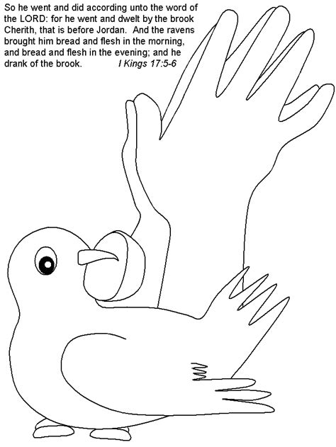 coloring page for elijah and the ravens elijah and the widow coloring page az coloring pages