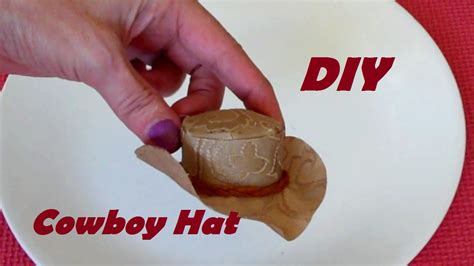 How To Make A Cowboy Hat Out Of Paper - how to make cowboy hat for dolls easy