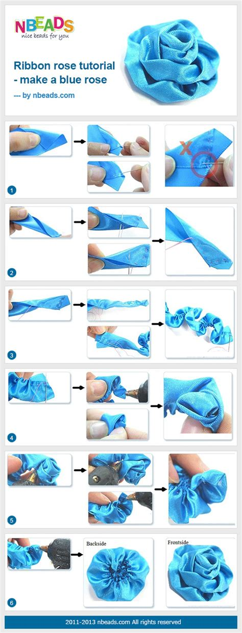 website ribbon tutorial ribbon rose tutorial make a blue rose pictures photos