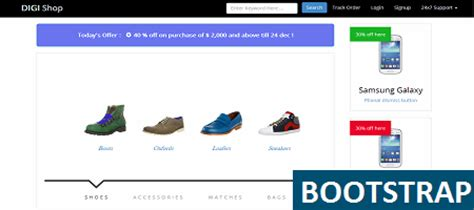 bootstrap ecommerce templates to create your shop