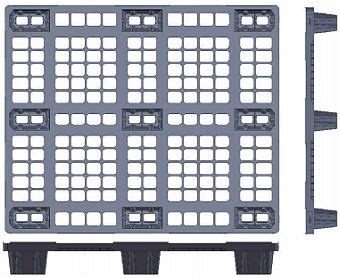 Pallet Kayu B 733 1210 light weight plastic pallet p2g1210 jual container palet