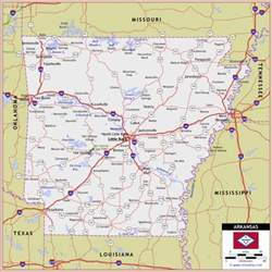 map with highways arkansas road map road network in arkansas map