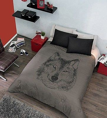 wolf bedroom new boys gray black wolf comforter bedding sheet set