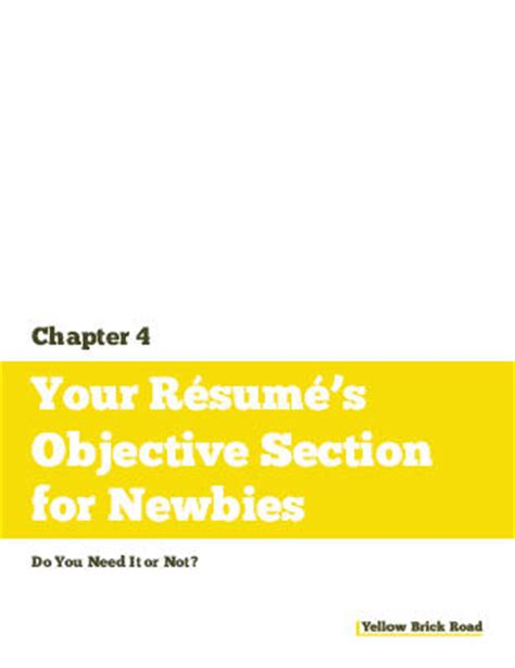 How To Say Section In by What To Say On A Resume In The Objective Section
