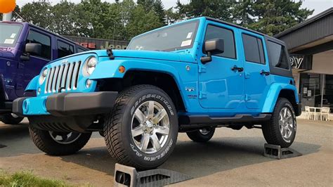 jeep 2017 blue 2017 chief blue jeep wrangler unlimited
