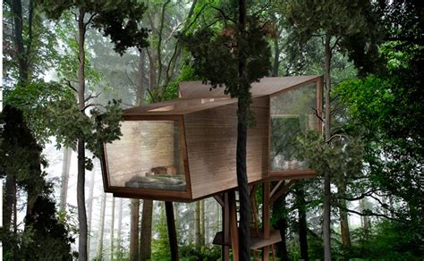 treehouse design software antony gibbon s inhabit treehouse lets you sleep high up