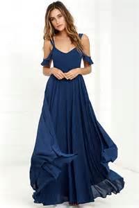 blue dress stunning navy blue dress maxi dress gown formal dress 79 00