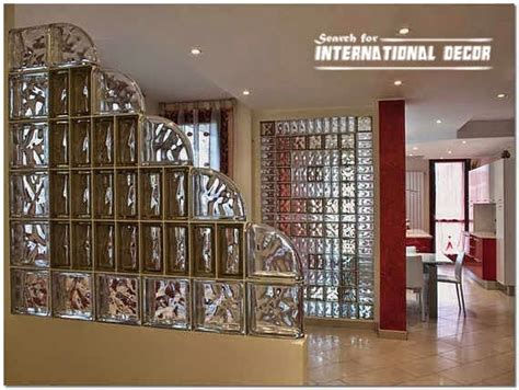 glass block installation and partition designs in the interior