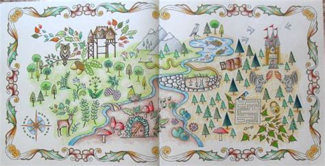 enchanted forest coloring book map google search