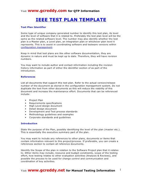 Test Plan Test Plan Template Pdf