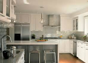 Gray And White Kitchen Ideas Grey Backsplash Best Home Decoration World Class