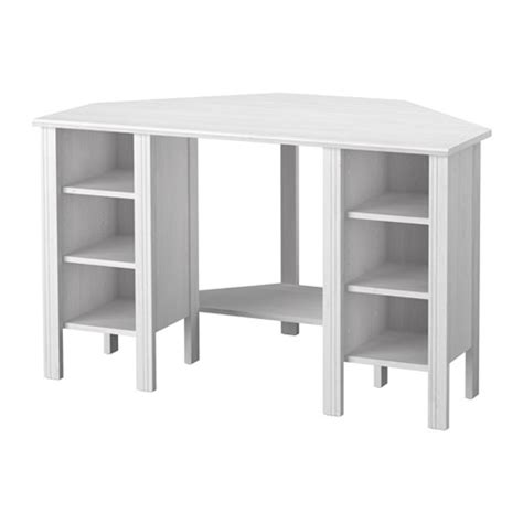 Corner Desk Idea Brusali Corner Desk White 120x73 Cm Ikea