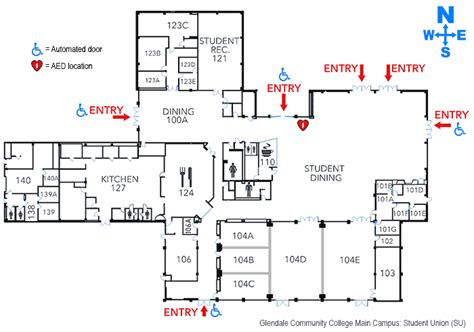 Floor Plan O2 by Student Union Building Glendale Community College