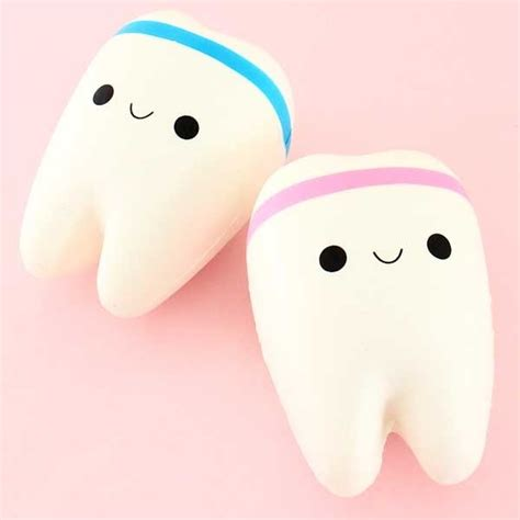 Squishy Gigi I Teeth Licensed kawaii tooth squishy charm squishy kiosk