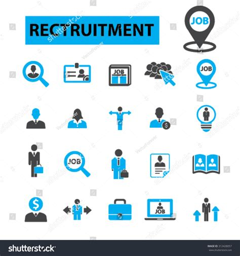 recruitment concept icons hiring human resources stock