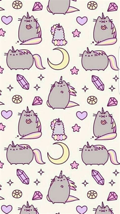 cat background pattern tumblr cats cute pattern pink pusheen image 5090924 by