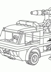 jet truck coloring page lego firetruck with fireman coloring page for kids
