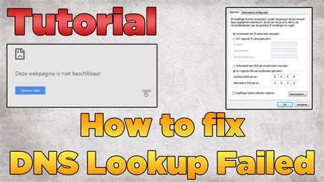 Lookup Dns How To Fix Dns Lookup Failed Tutorial 2015 Windows