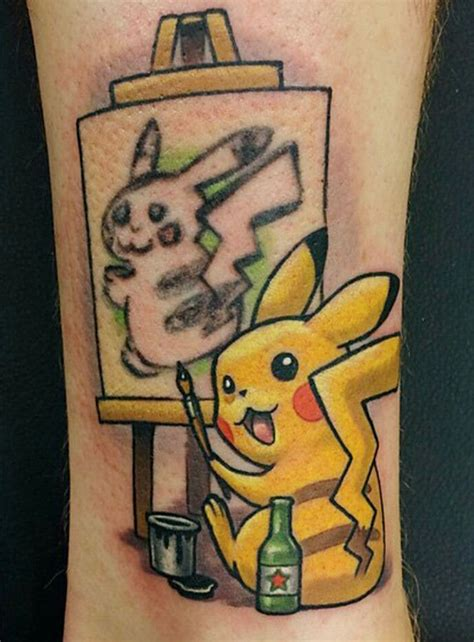 the best tattoo cover up idea ever turns pikachu into