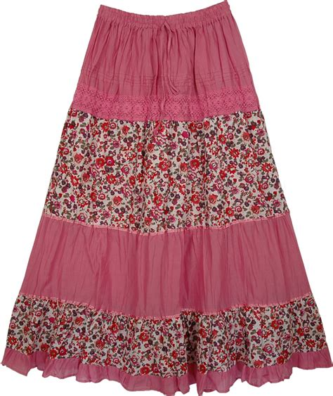 laced pink flowers skirt clothing sale on bags