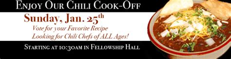 plymouth chili cook the great chili cook presbyterian church of
