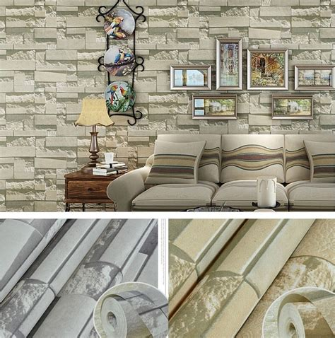 wall pattern sheets modern textured brick stone pattern wallpaper rolls sheets
