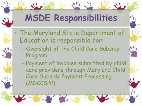 ppt maryland child care subsidy provider information