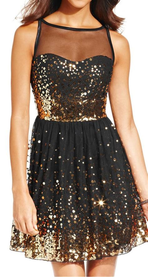 black gold sequin dress  great nye party dress