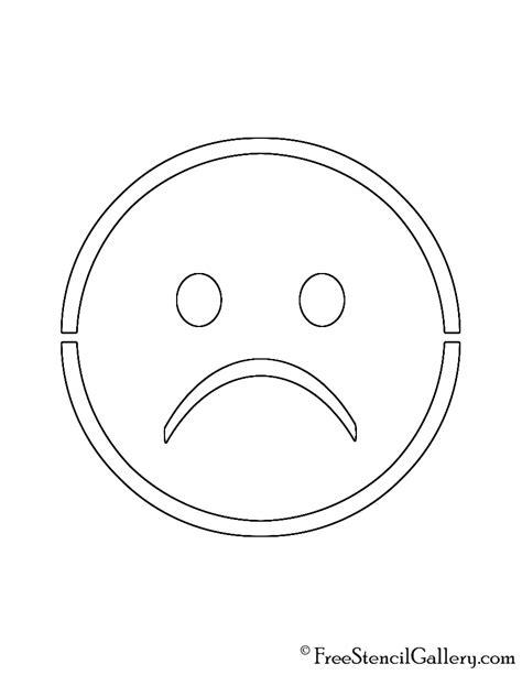sad template emoji sad stencil free stencil gallery
