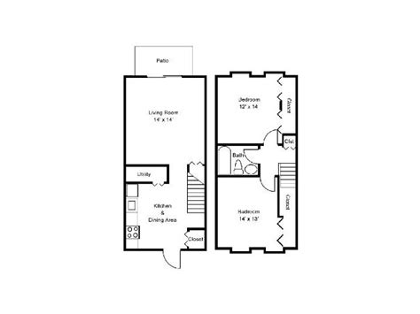 two bedroom townhouse plans 2 bedroom townhouse