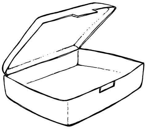 Free Coloring Pages Of Lunchbox Template sketch template