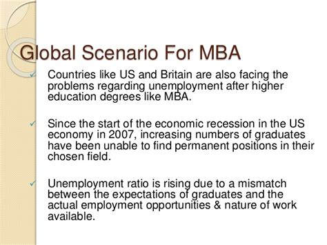 After Mba In Foreign Countries by Unemployment Risk Associated With Mba
