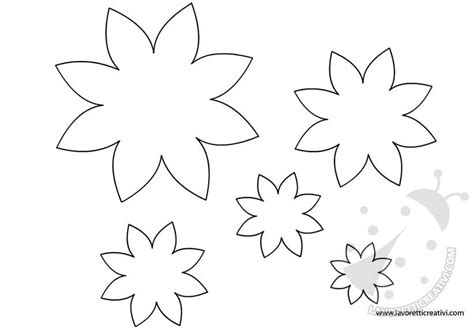 disegni fiori da ritagliare fiori sagome per lavoretti