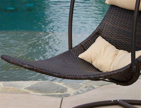 rattan swing brown wicker hanging swing chair 187 gadget flow
