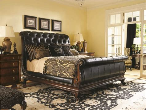 leather bedroom furniture 21 marvelous bedroom designs with sleigh beds