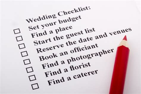 Wedding Hire Checklist by The Ultimate Wedding Day Checklist
