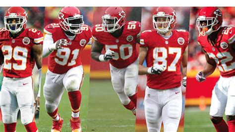nfl team rosters 2015 2016 five chiefs players named to 2016 nfl pro bowl roster