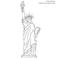 what color is the statue of liberty statue of liberty coloring page