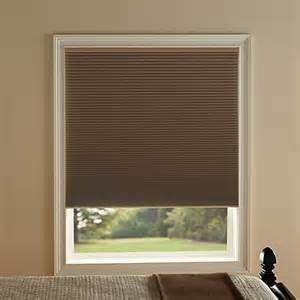 kirsch honeycomb room darkening window shades in toffee