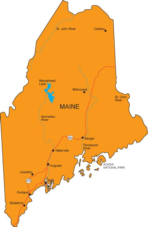 ME Map   Maine State Map