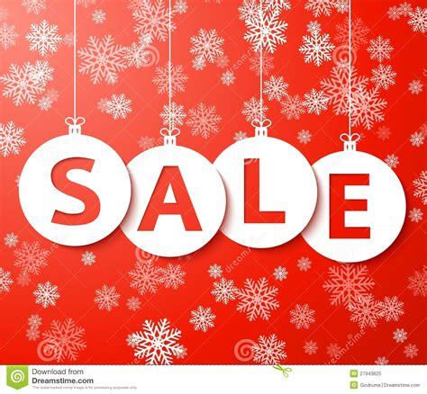 christmas sale balls with snowflake vector stock vector