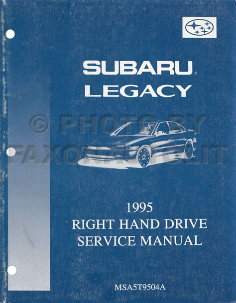 1994 subaru legacy repair shop manual supplement original 1995 1999 subaru legacy repair shop manual 12 volume set original binders