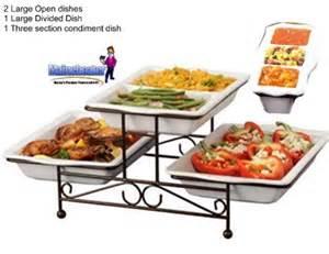 new 3 tier catering ceramic 3 trays buffet server condiment server brand new ebay