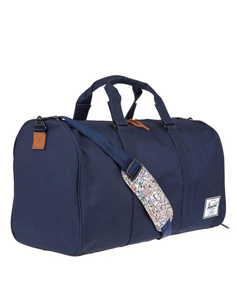 Valeria Bag Navy lyst herschel supply co navy novel liberty print duffle bag in blue
