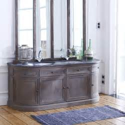 Bedroom Console Table Double Washstand In Oak Louise Bathroom Furniture Tikamoon