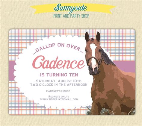 printable birthday invitations horse theme 86 best birthday party invitations images on pinterest