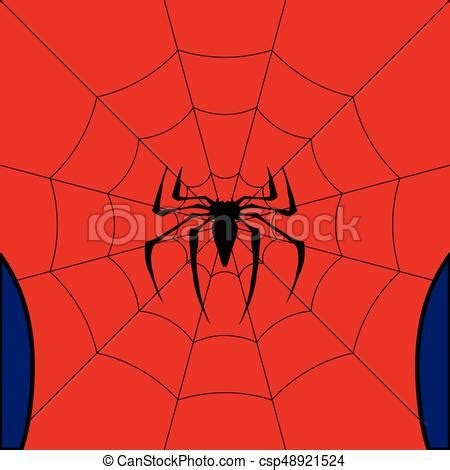 Vector black web with spider on red background. Black web ... Insect Drawings Clip Art