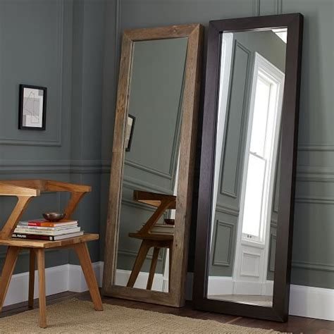 parsons floor mirror natural solid wood west elm