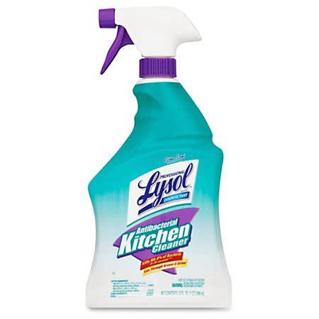 lysol antibacterial kitchen cleaner spray  gal  fl oz fresh citrus scentbottle  carton