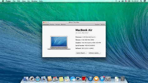 Apple Macbook Os X os x mavericks